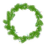 Natural Christmas wreath Stock Image