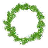 Natural Christmas wreath Stock Images