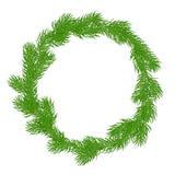 Natural Christmas wreath Stock Image