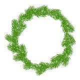 Natural Christmas wreath Royalty Free Stock Image