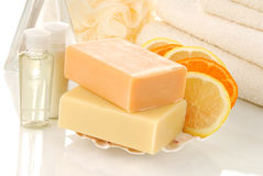 Natural citrus infused soaps Stock Image