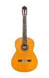 Natural Classical Acoustic Guitar Isolated on a White Background Royalty Free Stock Photo