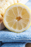 Natural Cleaning with Lemon Royalty Free Stock Image