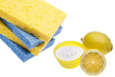 Natural Cleaning With Lemons, And Baking Soda Royalty Free Stock Images
