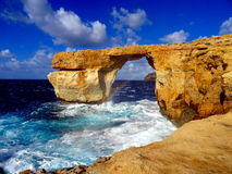 Natural cliff bridge. On the mediterranean sea Royalty Free Stock Photos