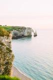 Natural Cliffs in Etretat. Stock Photos