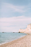 Natural Cliffs in Etretat. Royalty Free Stock Photos