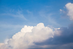 Natural clouds and evening skies Royalty Free Stock Photography