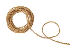 Natural coarse fiber rope coil Royalty Free Stock Photos