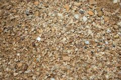 Natural coarse sand. Surface grains of sand close-up. royalty free stock images