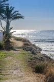 Natural coastal path by the Mediterranean Stock Images
