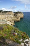 Natural coastline of Algarve Stock Photos