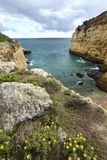 Natural coastline of Algarve Royalty Free Stock Photo
