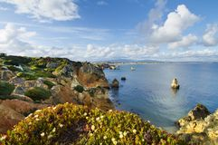Natural coastline of Algarve Stock Photography
