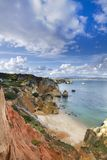 Natural coastline of Algarve Stock Images