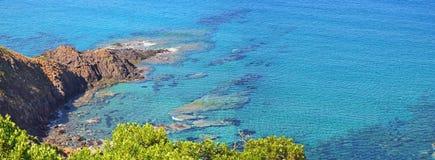 Natural coastline panorama Royalty Free Stock Photos