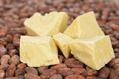 Natural cocoa butter Stock Image