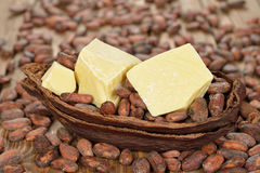 Natural cocoa butter Royalty Free Stock Images