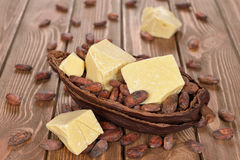 Natural cocoa butter Royalty Free Stock Photos