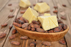 Natural cocoa butter Royalty Free Stock Photo