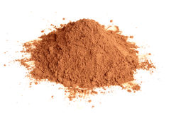 Natural cocoa powder Stock Image