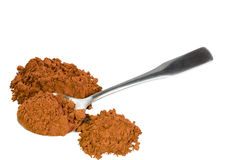 Natural cocoa powder. Cocoa powder isolated on white background Stock Image