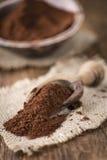 Natural Cocoa powder Royalty Free Stock Images