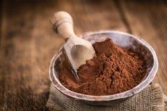 Natural Cocoa powder Stock Image