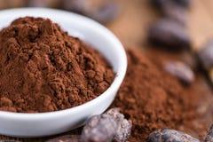 Natural Cocoa powder Stock Photo