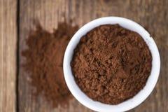 Natural Cocoa powder Stock Photos