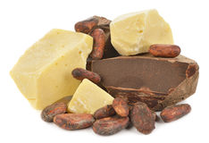 Natural cocoa products Royalty Free Stock Image