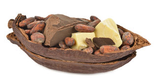 Natural cocoa products Royalty Free Stock Photography