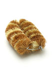 Natural coconut fiber brush Stock Photo