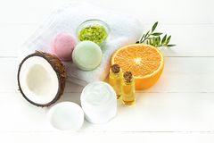 Natural coconut oil Royalty Free Stock Photography