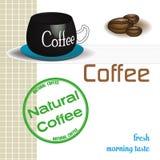 Natural coffee stock illustration