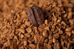 Natural coffee bean and instant cofee Stock Photos
