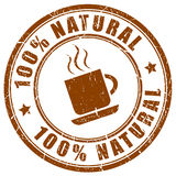 Natural coffee icon. Isolated on white background Stock Image