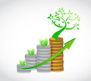 Natural coin graph illustration design Stock Images