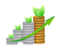 Natural coins graph illustration design Royalty Free Stock Photo