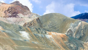 Natural color contrast. Natural painting with vibrant colors in ladakh india Stock Image