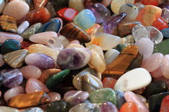Natural color gems background Royalty Free Stock Photos