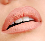 Natural color of lipstick stock photos