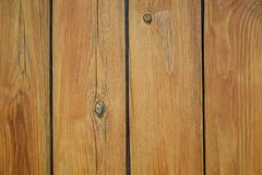 The natural color of pine planks is covered with clear varnish royalty free stock photography