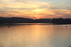 Natural color in sky. Beautiful view in sky. this photo click after sunset at kagdi pick up lake, banswara, rajasthan 327001 india stock photography