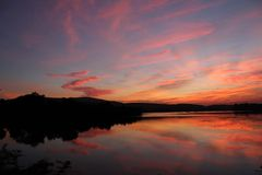 Natural color in sky. This photos click after sun set. natural color in sky. place is kagdi pick up lake, banswara rajasthan 327001 india stock photography