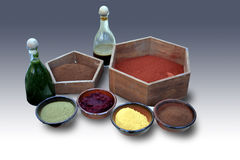 Natural colorants dyes Royalty Free Stock Photo