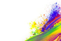 Natural colored pigment powder. Copy space. Natural colored pigment powder smeared on a sheet of white paper vector illustration
