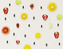 Natural Colorful Pattern Background Made of Citrus Fruits Orange Royalty Free Stock Photography
