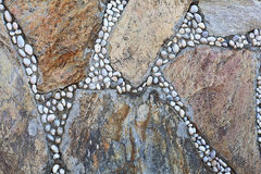 Natural colorful stone. Can be used as background.  Royalty Free Stock Photo