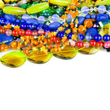 Natural colorful stones beads from different minerals isolated o Stock Photography